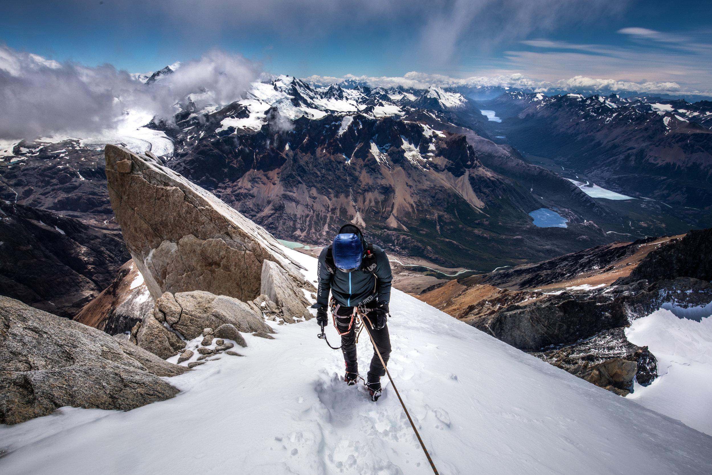 Final snow climb to summit