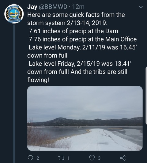Source: Big Bear Municipal Water District Tweet