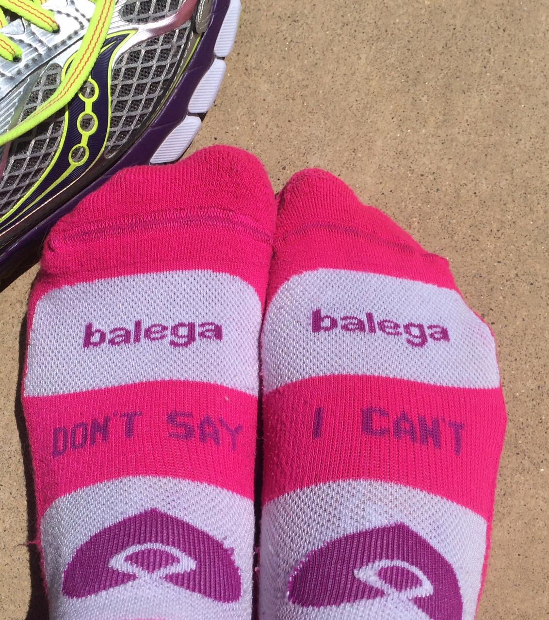 Sometimes it's as simple as a good pair of socks ...