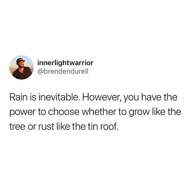 🌧 It will rain, it will pour, it will flood, it will hurricane, it will tsunami and you will be engulfed by life. We all have our moments of the sinking and floating. As human, the way to understand and recognize nirvana is to experience the absence of.  Sunlight always returns after the rain. So will you... ☀️  #grow