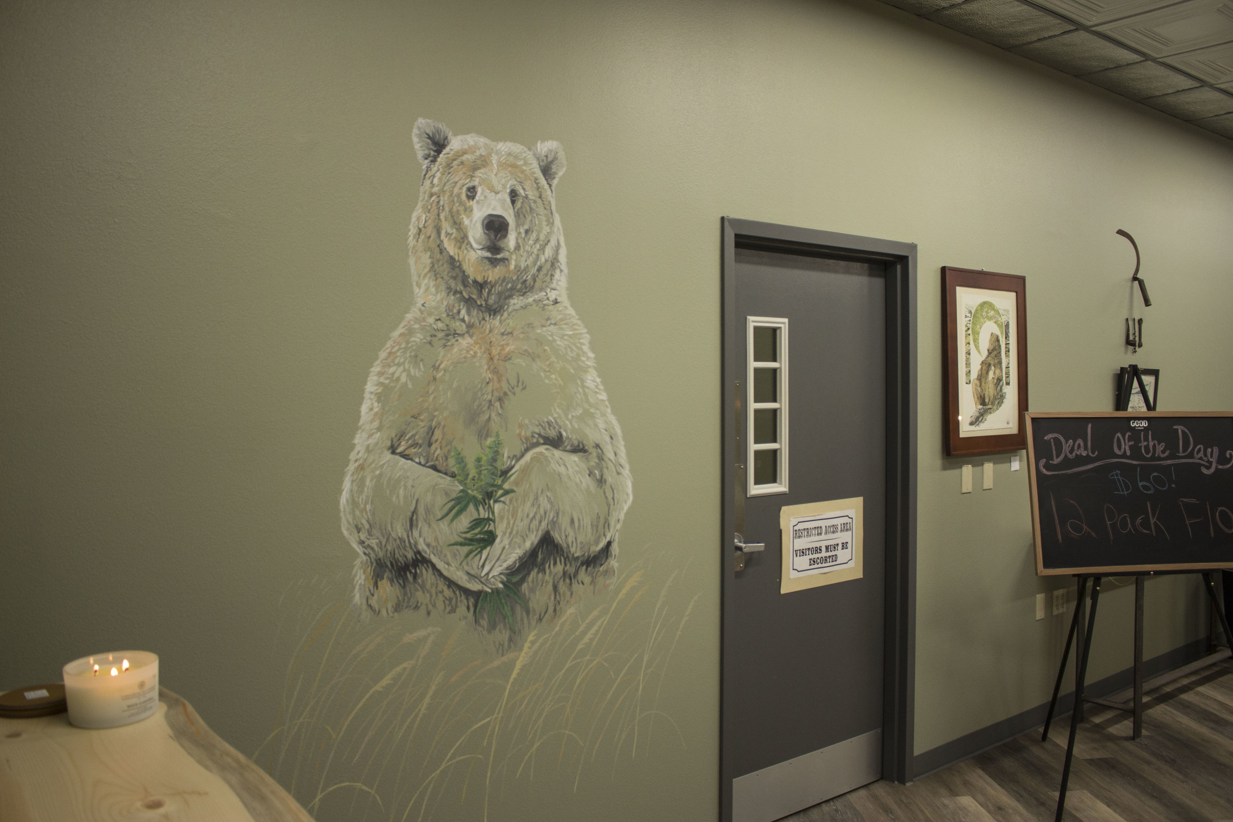 A mural commissioned by GOOD AK Cannabis in Fairbanks, Alaska.