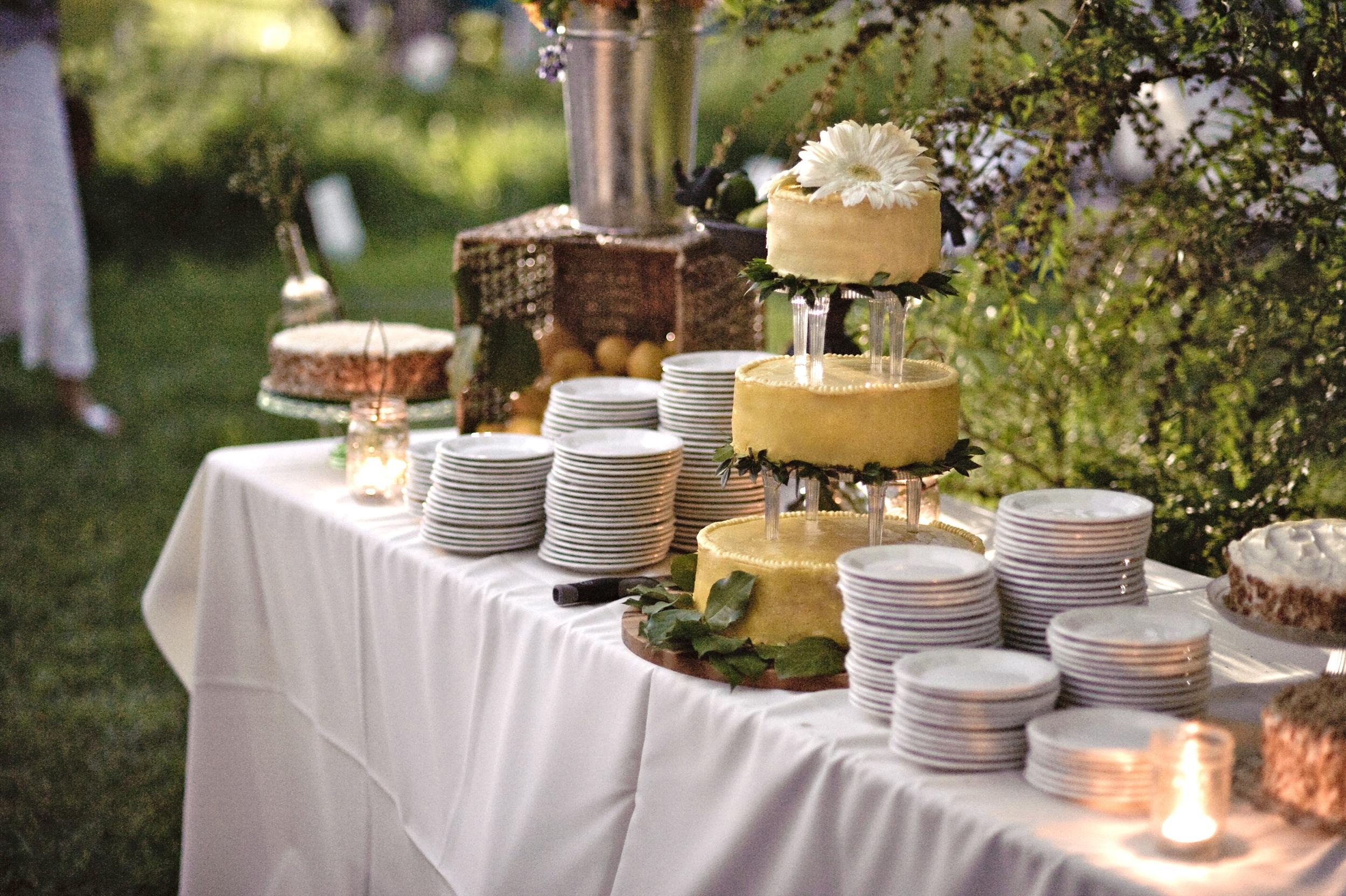 3-tiered Lemon Curd Wedding Cake