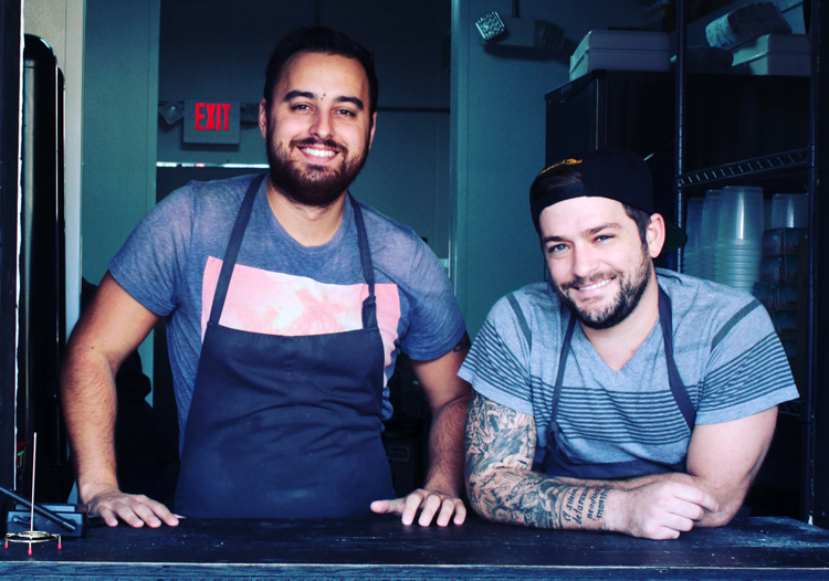 Aaron Saurer and James Zamory are the duo behind Carnal, one of the top barbecue vendors in Brooklyn.