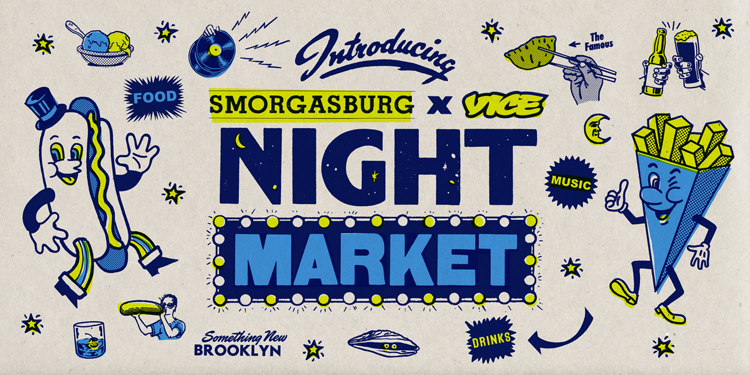 The Smorgasburg X Vice Night Market is back for 2019 in Williamsburg.