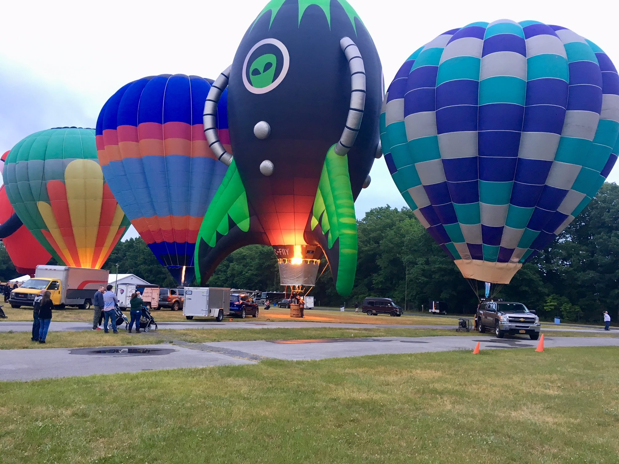 On top of BBQ, the festival will be a chance to see amazing hot air balloons up close.