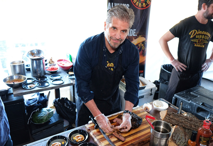 John Stage, co-founder of Dinosaur Bar-B-Que, was on hand at Brisket King NYC 2019 and served a great brisket tostada.