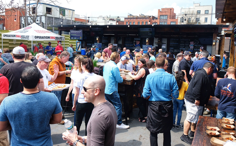 More than a thousand people poured into Pig Beach NYC last Saturday for the Jeff Michner BBQ Benefit.
