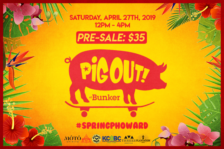 Pig Out at Bunker will feature a whole hog roast and much more in Brooklyn.