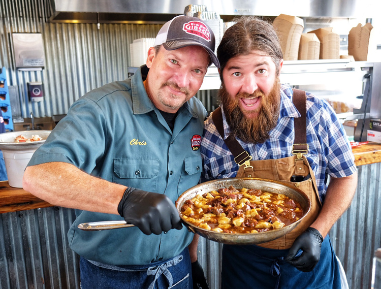 The event attracted big-name pitmasters from around the country including Chris Lilly (left) from Big Bob Gibson Bar-B-Q and Tank Jackson from Holy City Hogs.