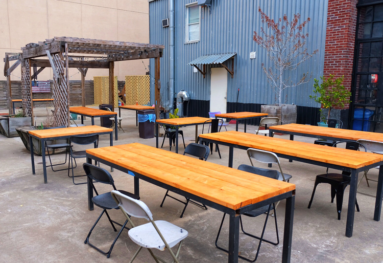 Outside of the barbecue, Mothership Meat Company's other big attraction is its outdoor space.