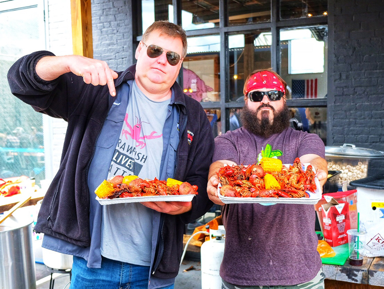 You won't want to miss the Second Annual Crawfish Boil with wild guys Danny Beck (left) and Craig Verhage at Pig Beach NYC, happening this weekend.