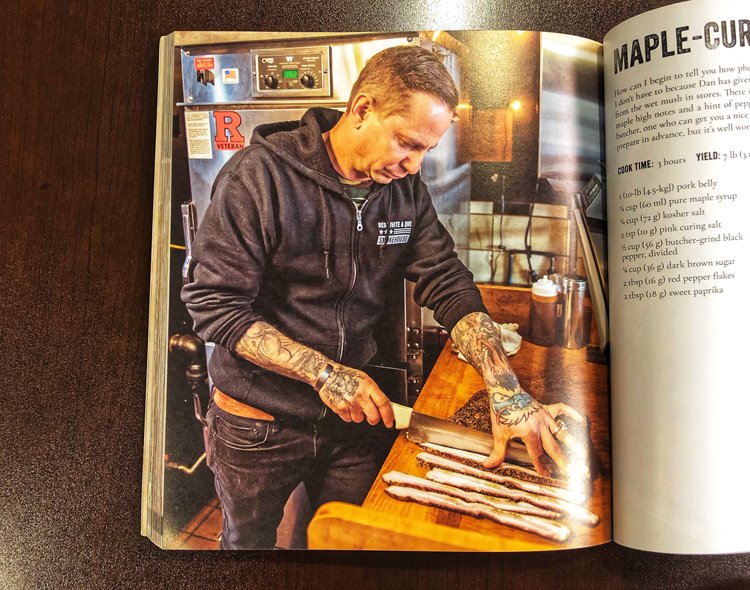 Dan Misuraca of Red, White, & Que Smokehouse in New Jersey makes an appearance in Smoked with his maple-cured bacon.