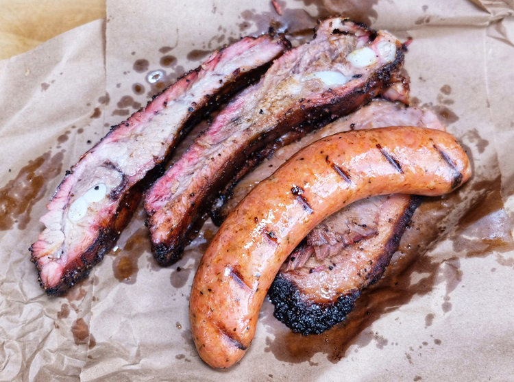 Mothership Meat Company in Long Island City landed on Eater NY's list of essential barbecue restaurants. (Photo by Sean Ludwig)