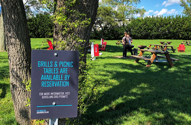 The grilling sites on Governor's Island are beautiful and worth the hassle of bringing gear via a ferry.