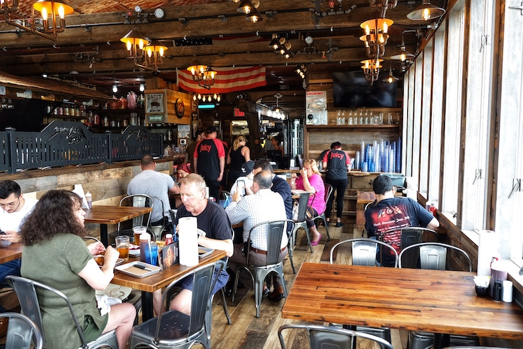 The interior of Juicy Lucy BBQ is not very large, so you may need to wait.