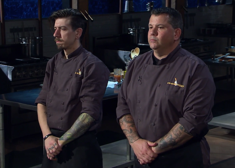 New York's Corey Cash of Cash Only BBQ (left) and Ed Randolph of Handsome Devil BBQ competed on a recent episode of Chopped.