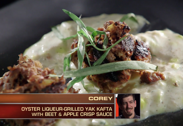 Corey Cash's yak kafta was his top item and one of the most creative dishes of the episode.