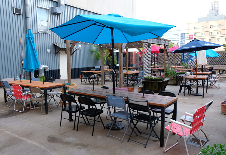There is plenty of room for outdoor parties and groups at Mothership Meat Company.