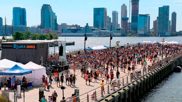 This weekend, the Hudson River Park Blues BBQ Festival will take place on the west side of Manhattan.