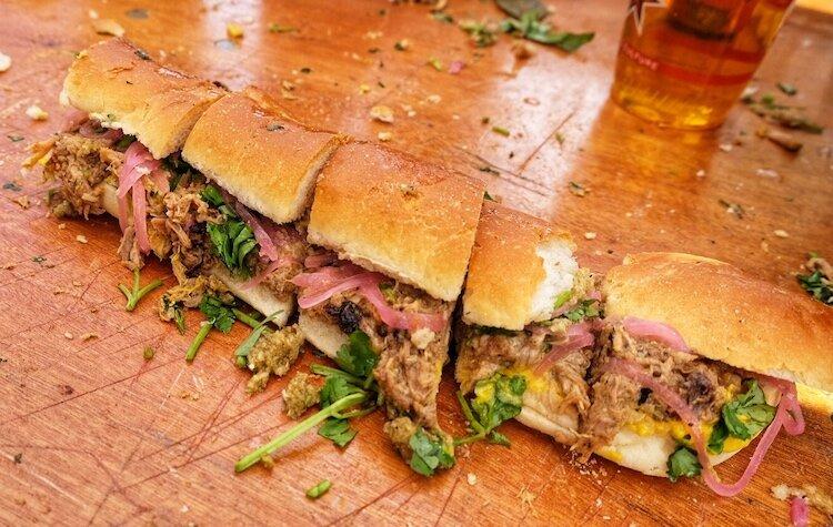 The roasted pork sandwich from Carl Ruiz and Mario Chape from La Cubana.