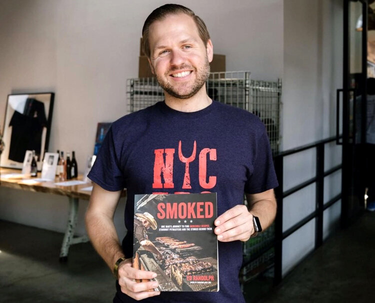 Here I am posing with the book Smoked, of which I wrote the foreword. (Photo by Ben Hon)