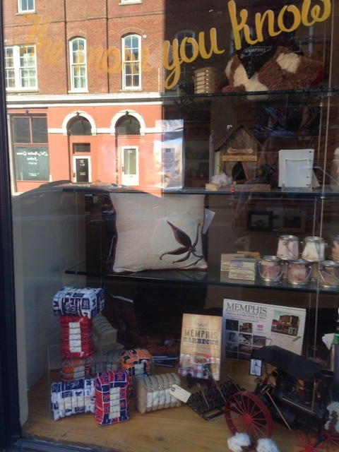The shop window on view from Union Avenue.