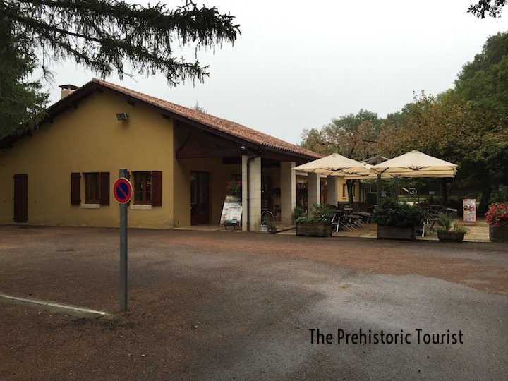 The reception building for Villars Cave
