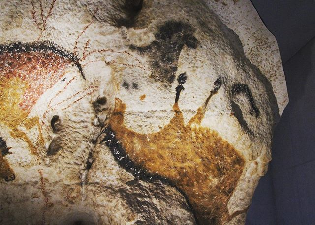 "The panel of the ""falling horse"" in Lascaux.-----------------------------------------#Lascaux #horse #horses #paleolithic #prehistoire #paleo #perigord #prehistoric #history #art #archaeology #caveart #dordogne #travel #travelphotography #photography #france #painting #cavepainting #iceage #stoneage"
