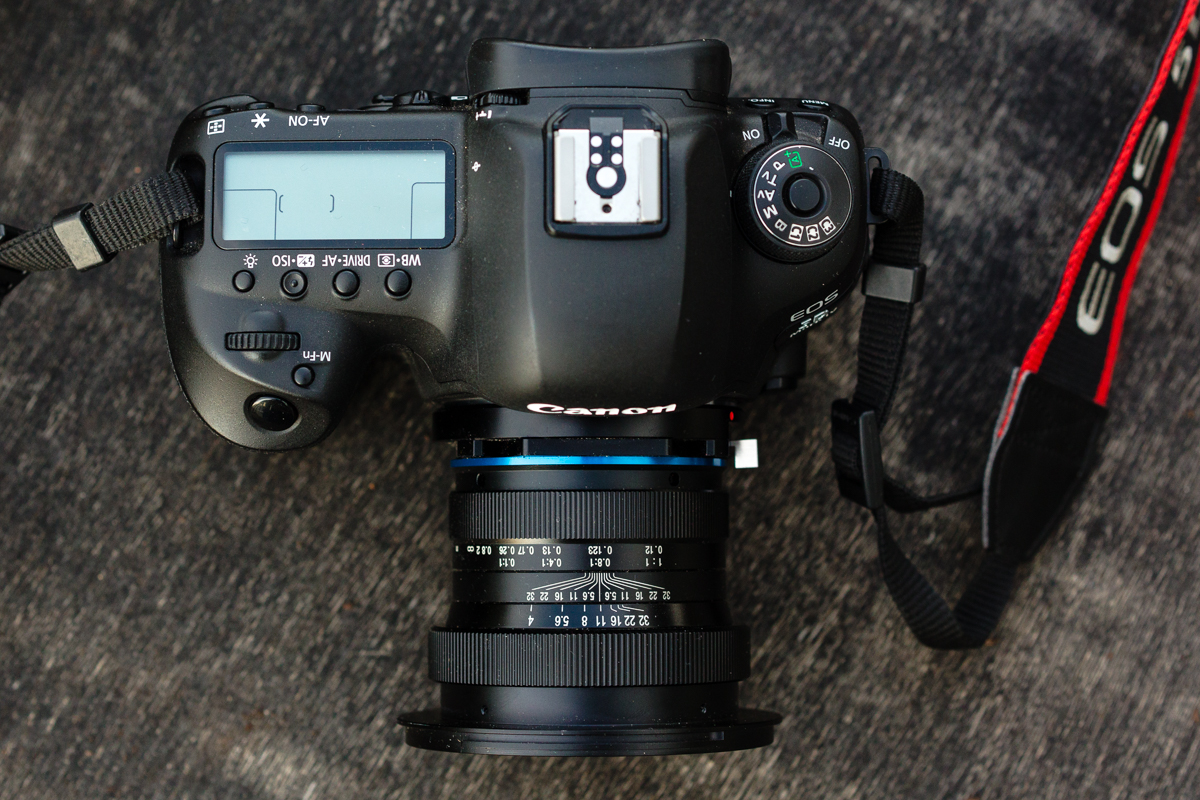 The Laowa 15mm f4 macro attached to my Canon 5D MKIV.