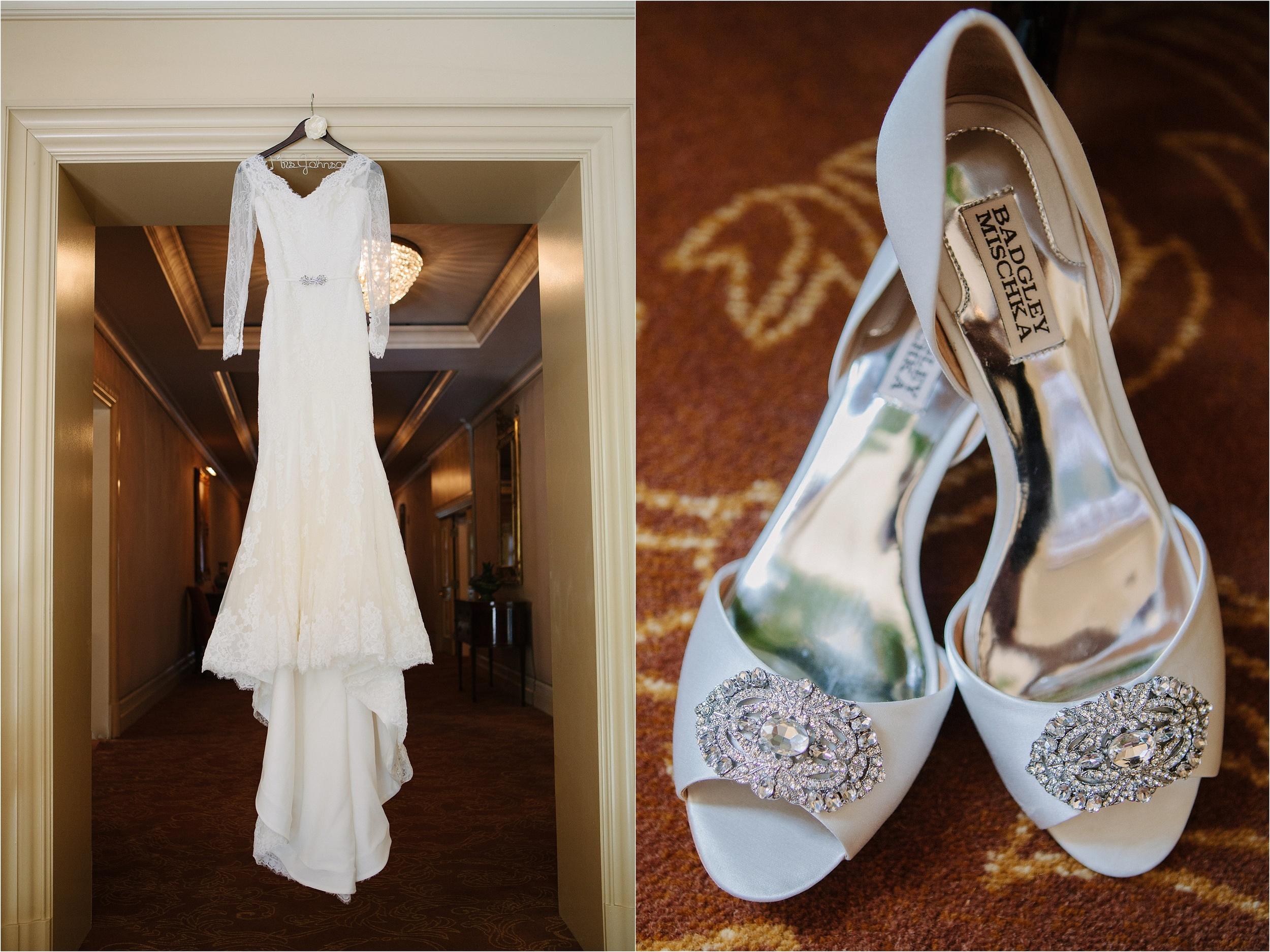 Descanso Gardens Wedding Dress Detail Photo