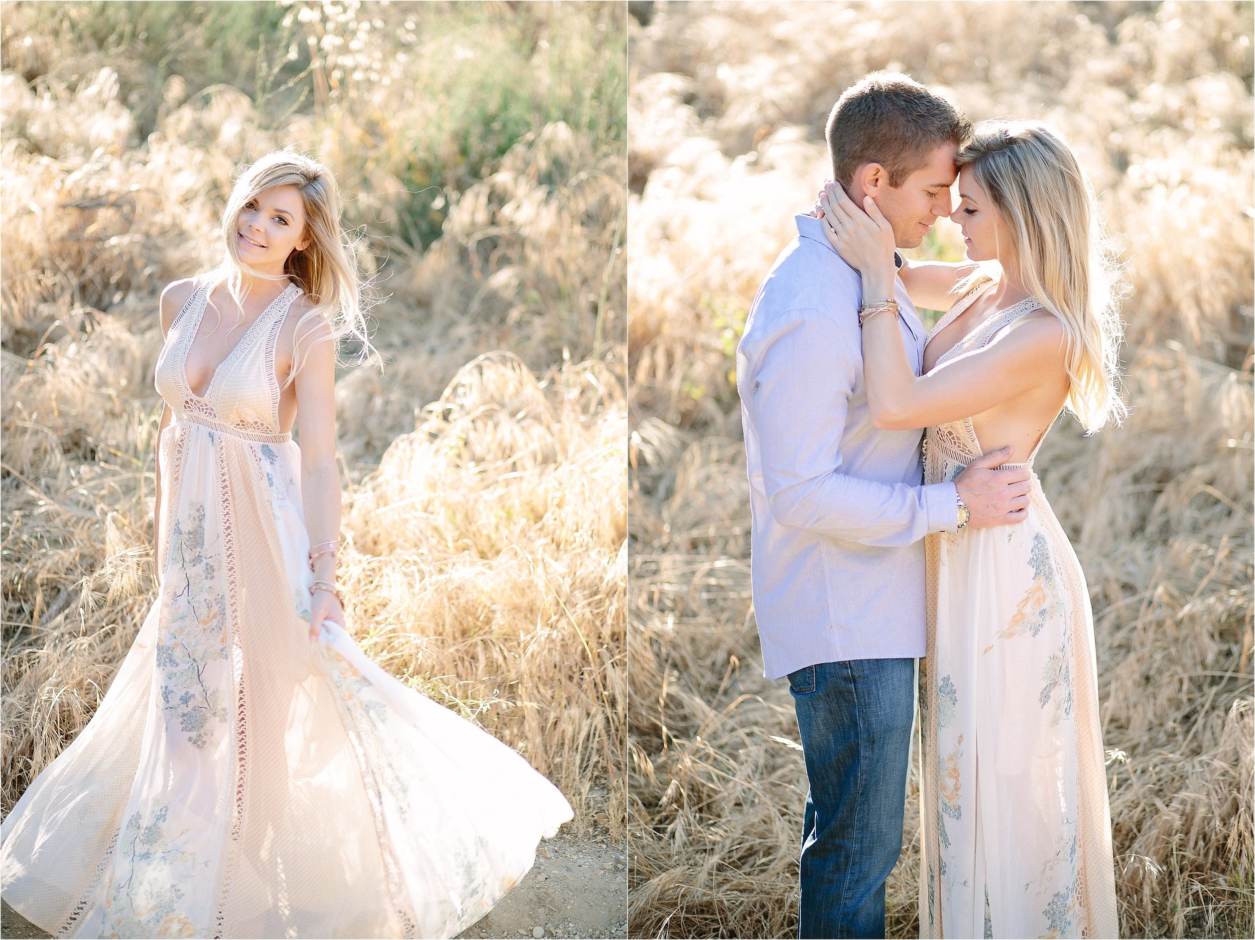 Santa Clarita Golden Hour Engagement Photo