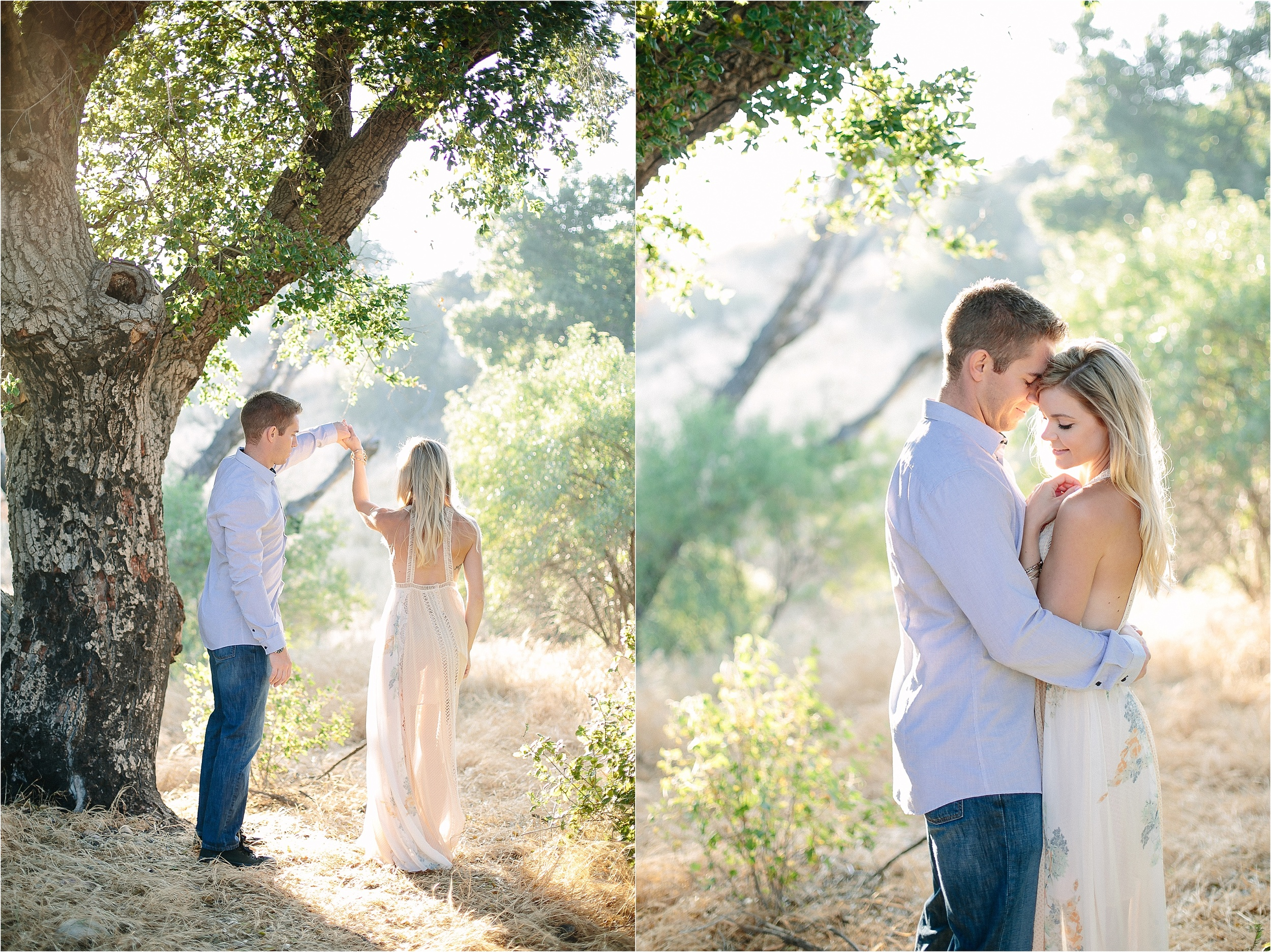 Santa Clarita Romantic Engagement Photo