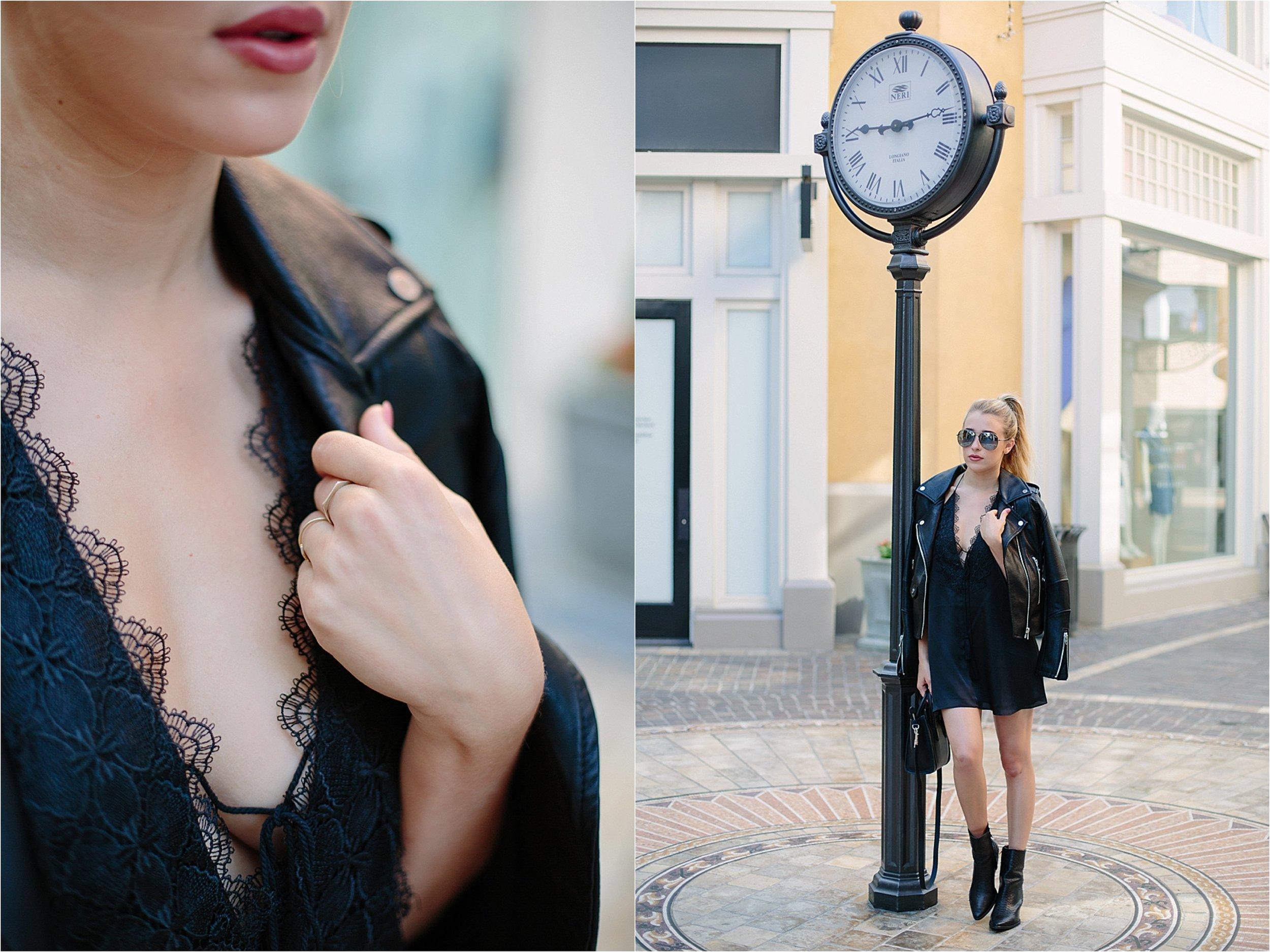 Los Angeles Fashion - BlankNYC Leather Jacket Photo