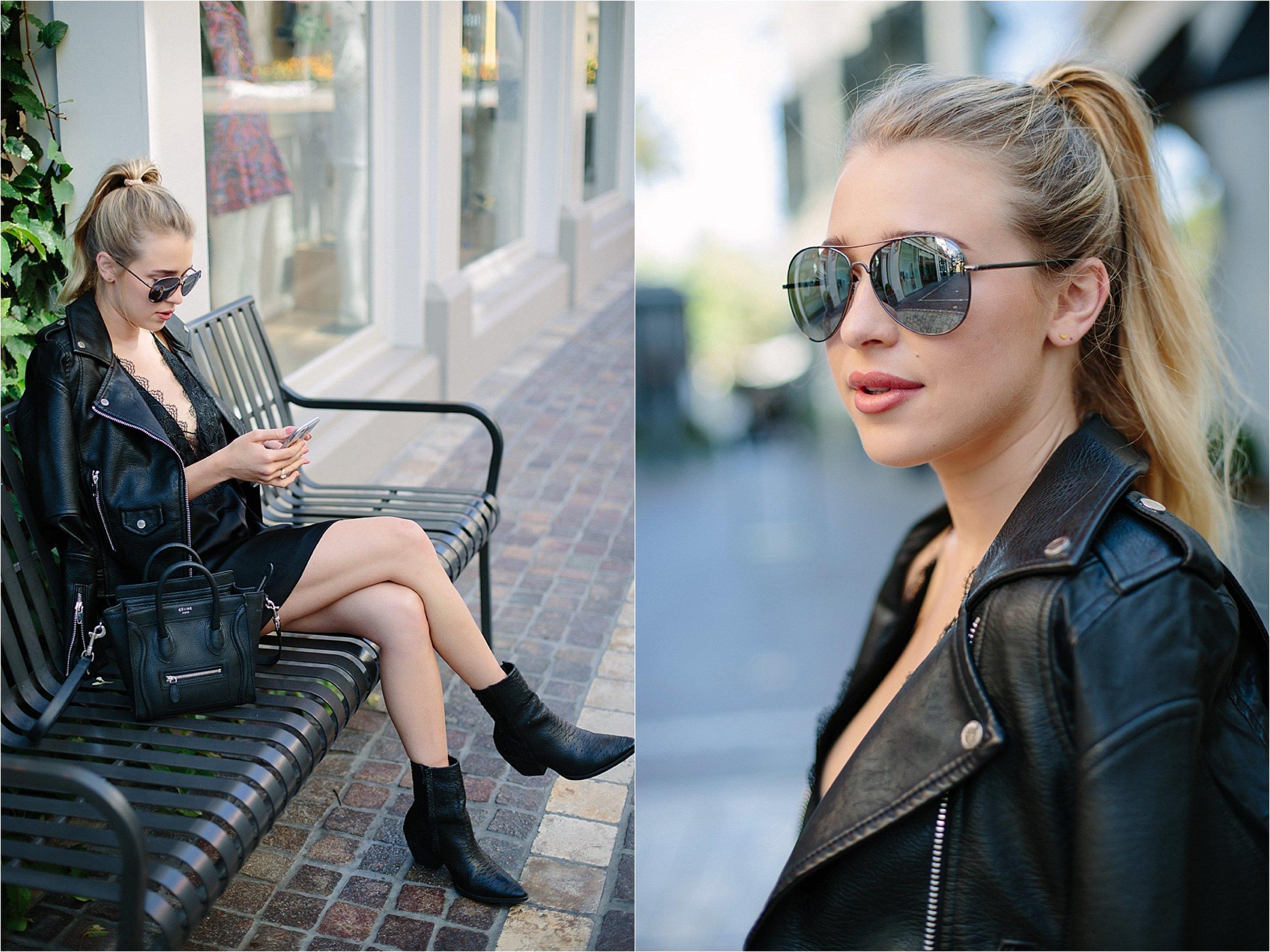 Los Angeles Fashion - Sunglasses Detail Photo