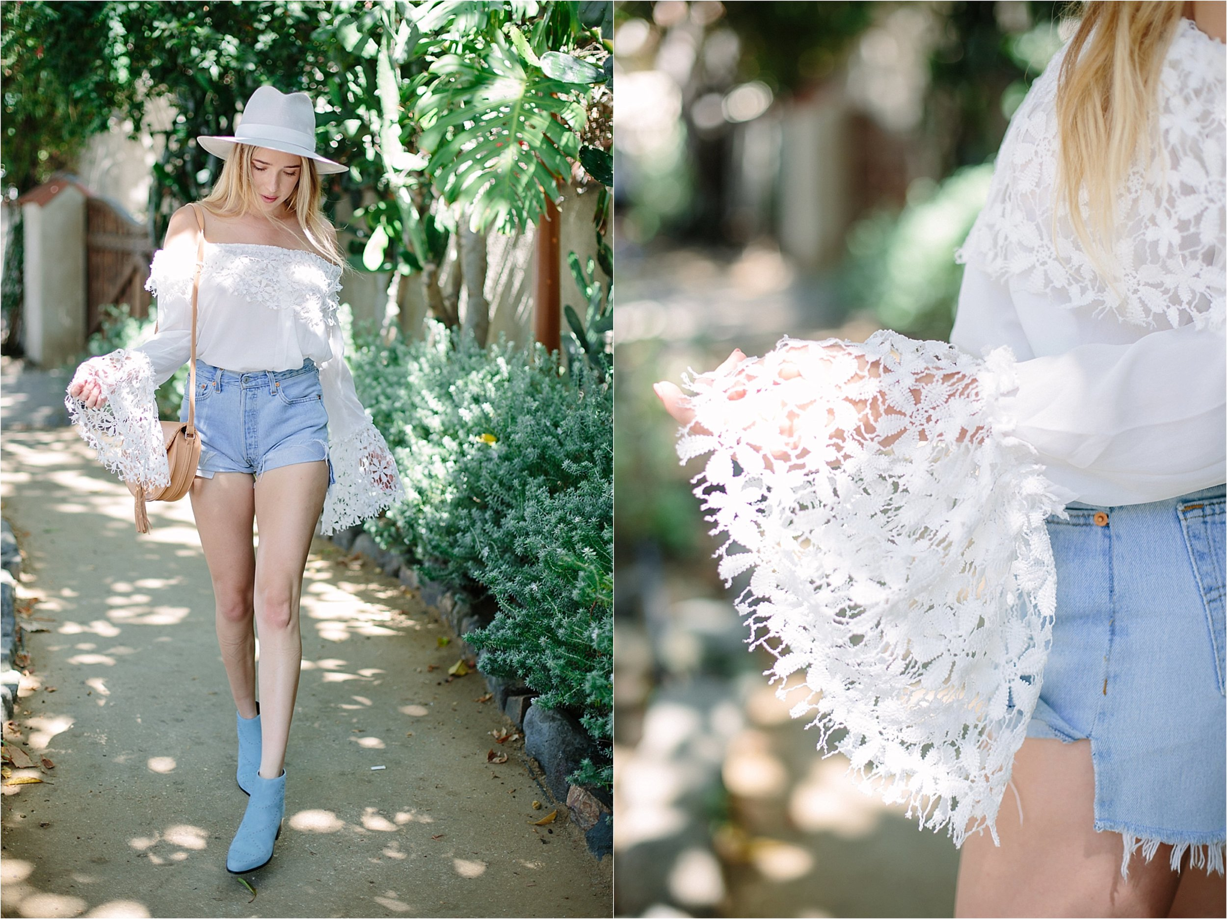 Los Angeles Nasty Gal Lace Bell Sleeve Detail Photo