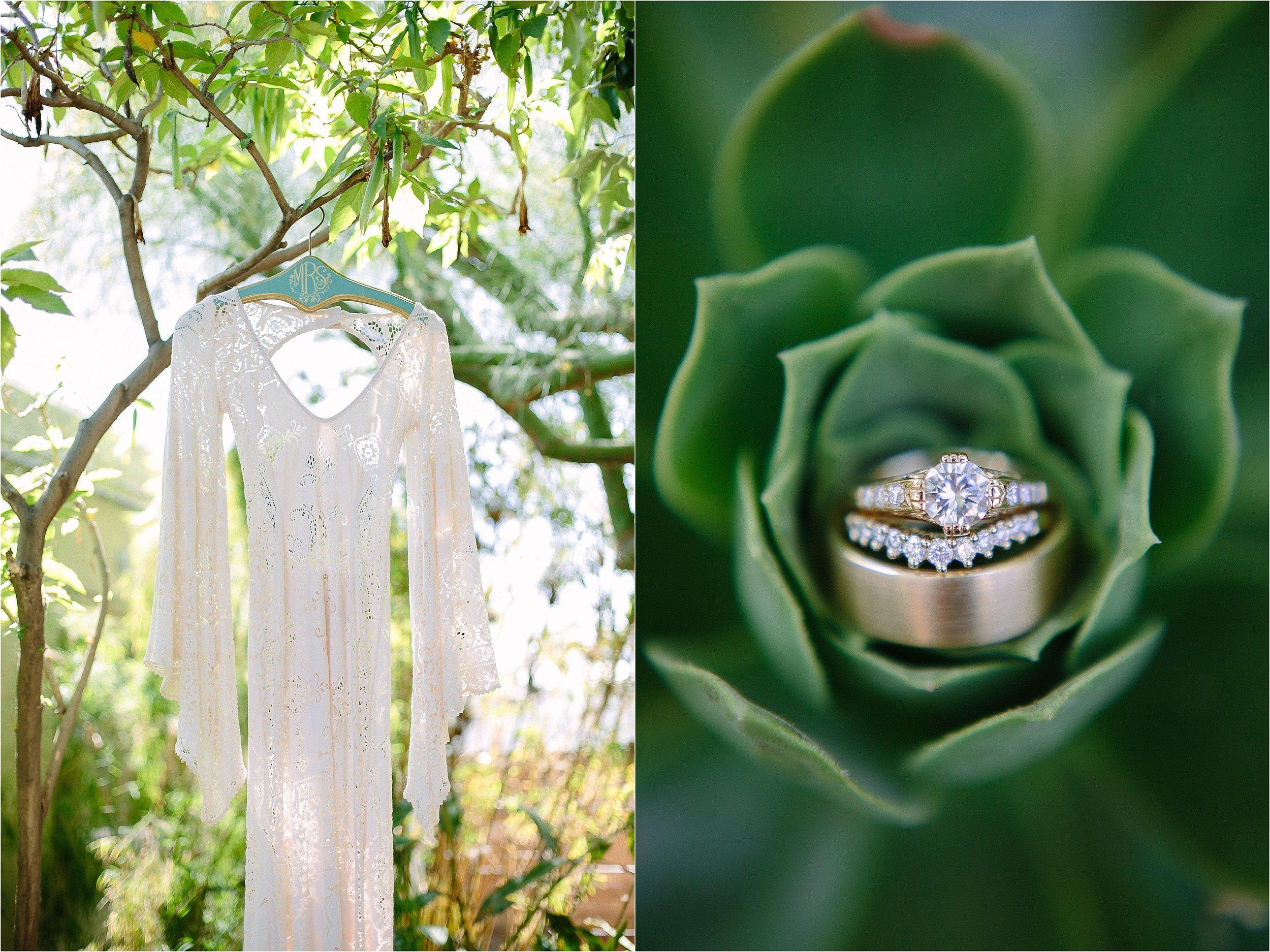 Saldana Vintage Lace Wedding Gown Detail Photo