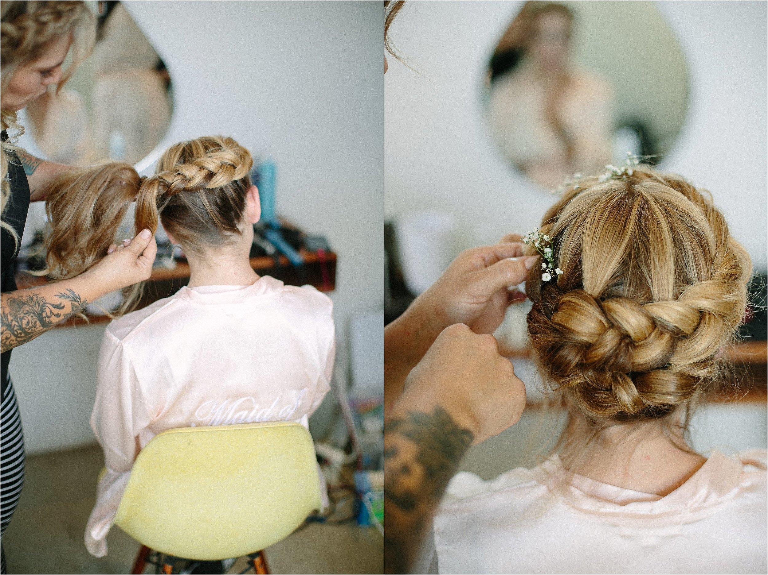 Braided Hair Detail Photo