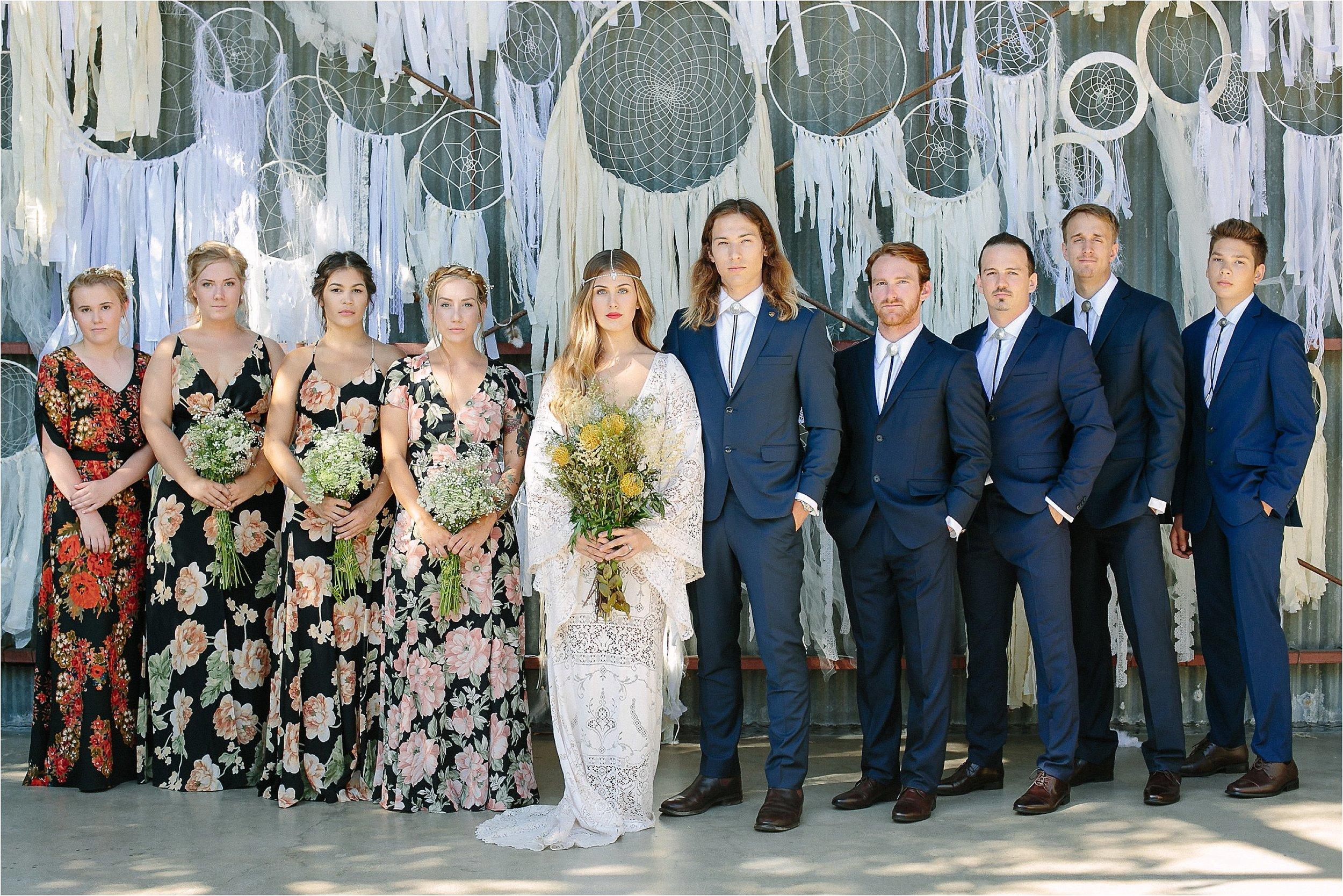 Boho Bridal Party Photo