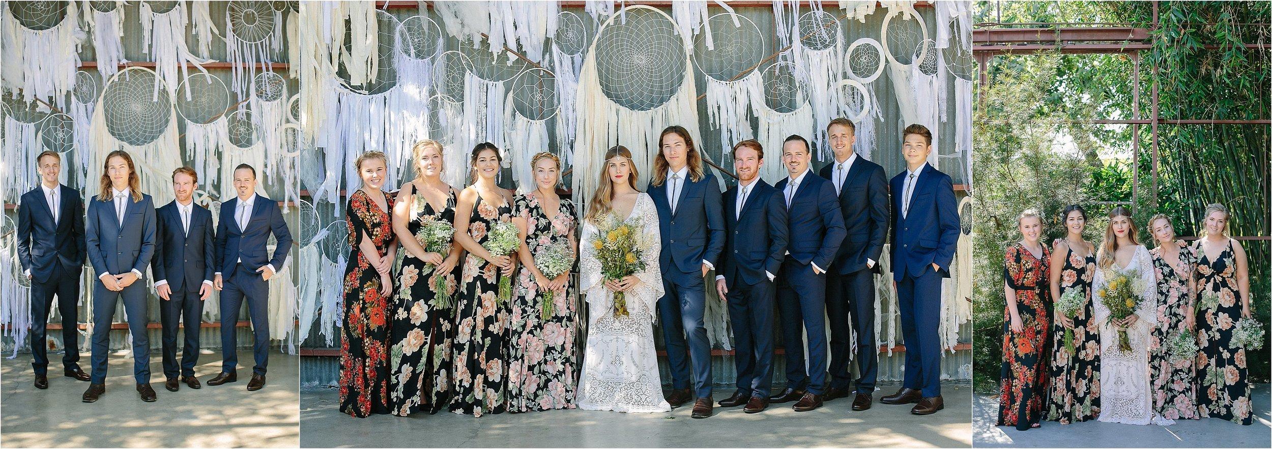 Boho Bridesmaids & Groomsmen Photo