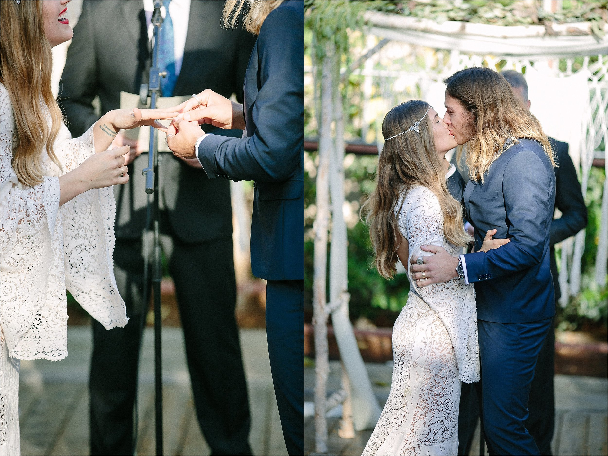 The First Kiss as Husband and Wife Photo