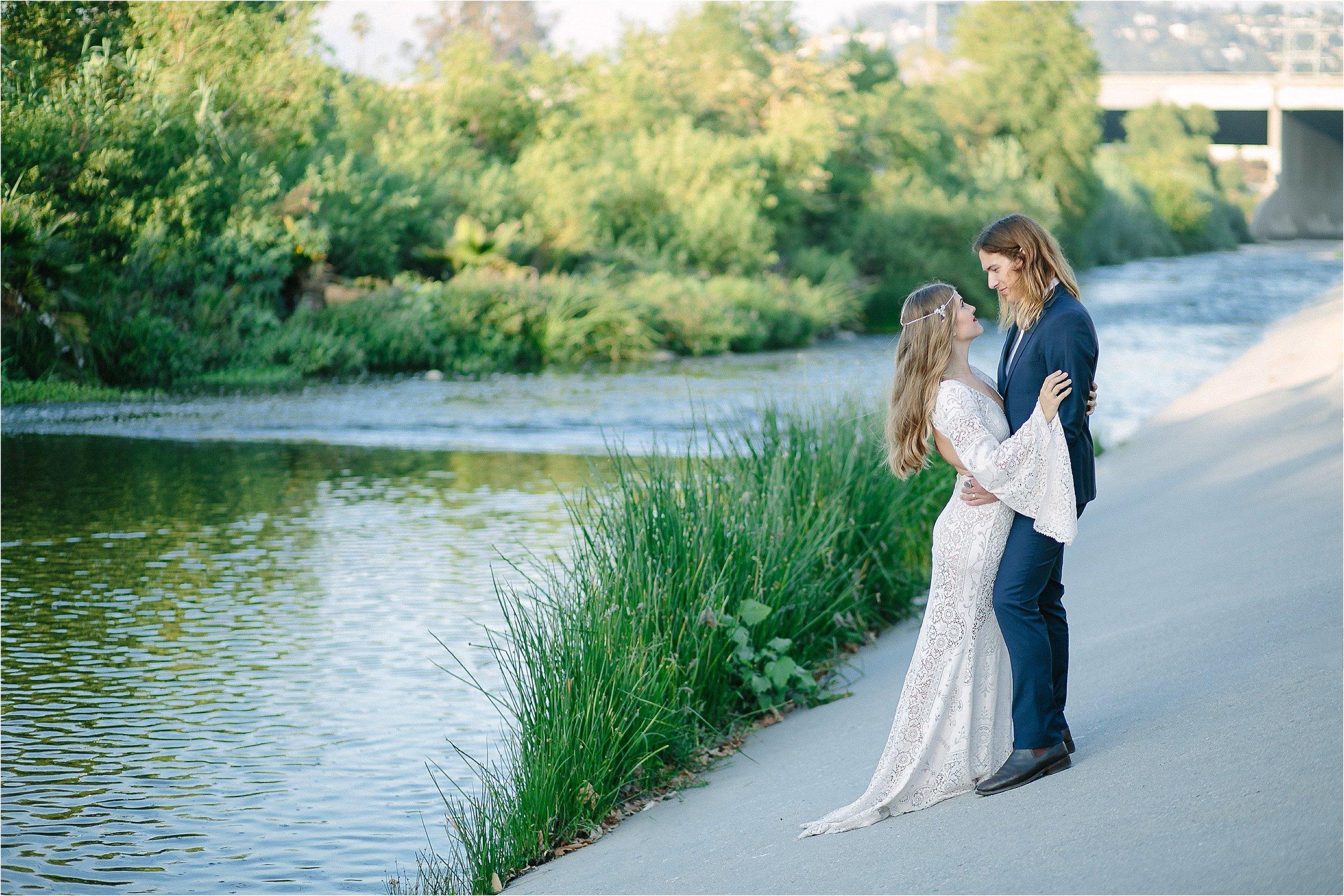 LA River Bridal Portrait