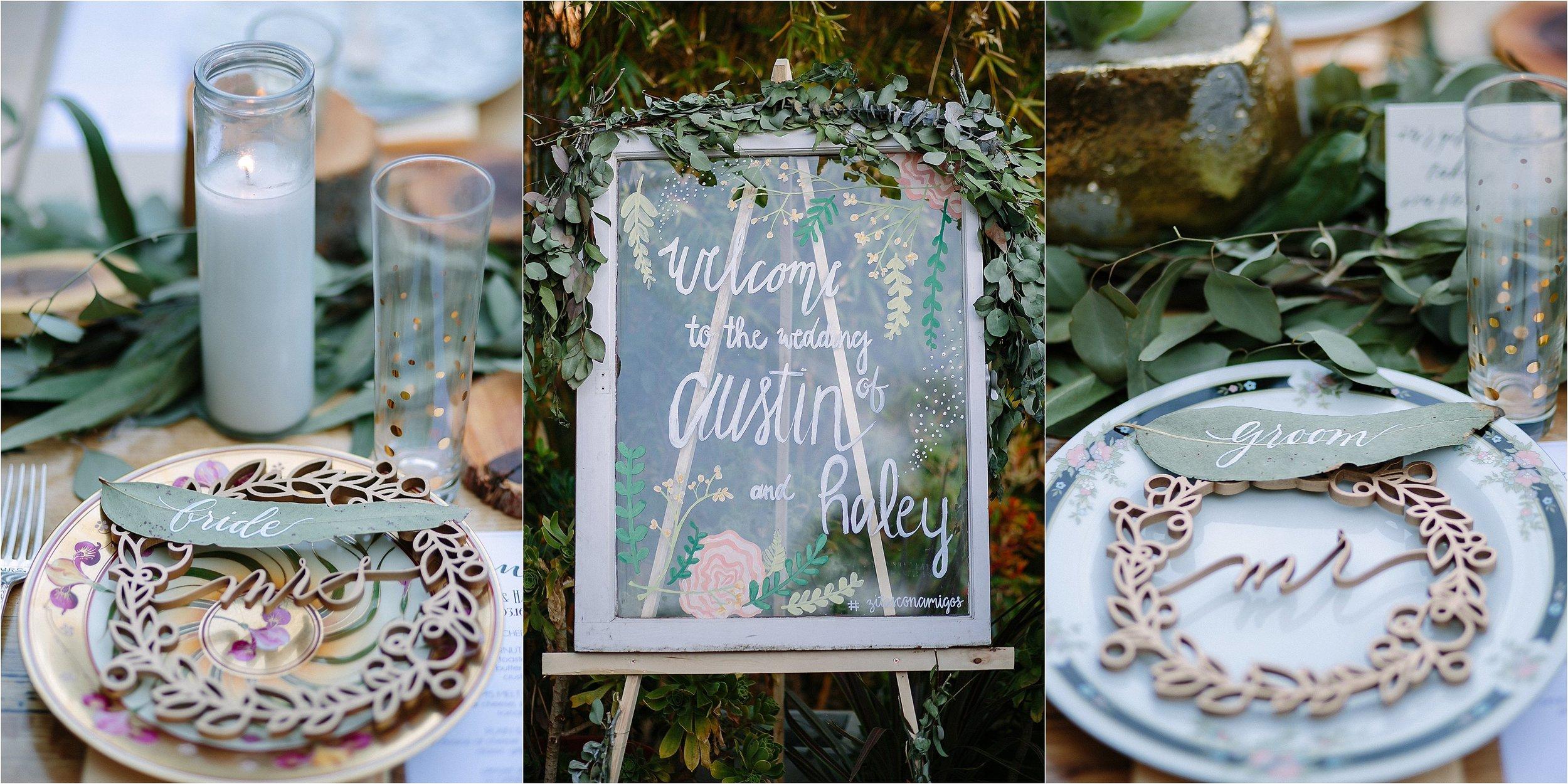 Handmade Wedding Welcome Sign Photo