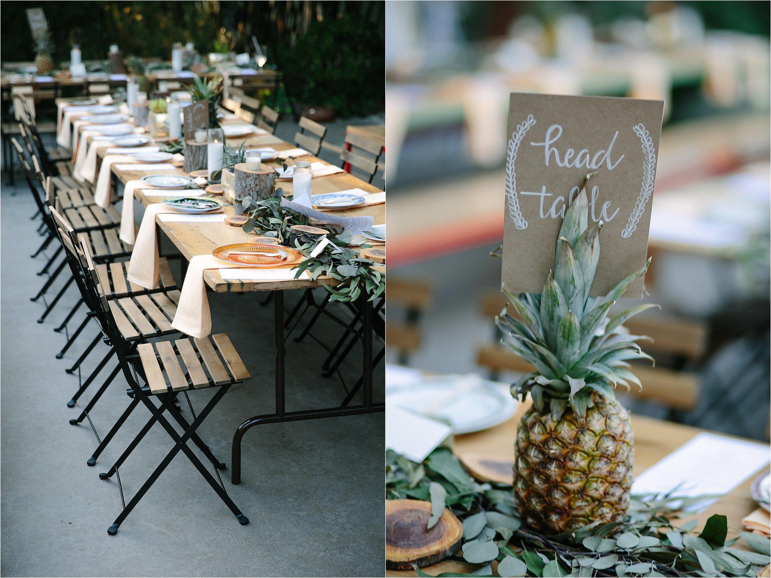Reception Tablescape Detail Photo