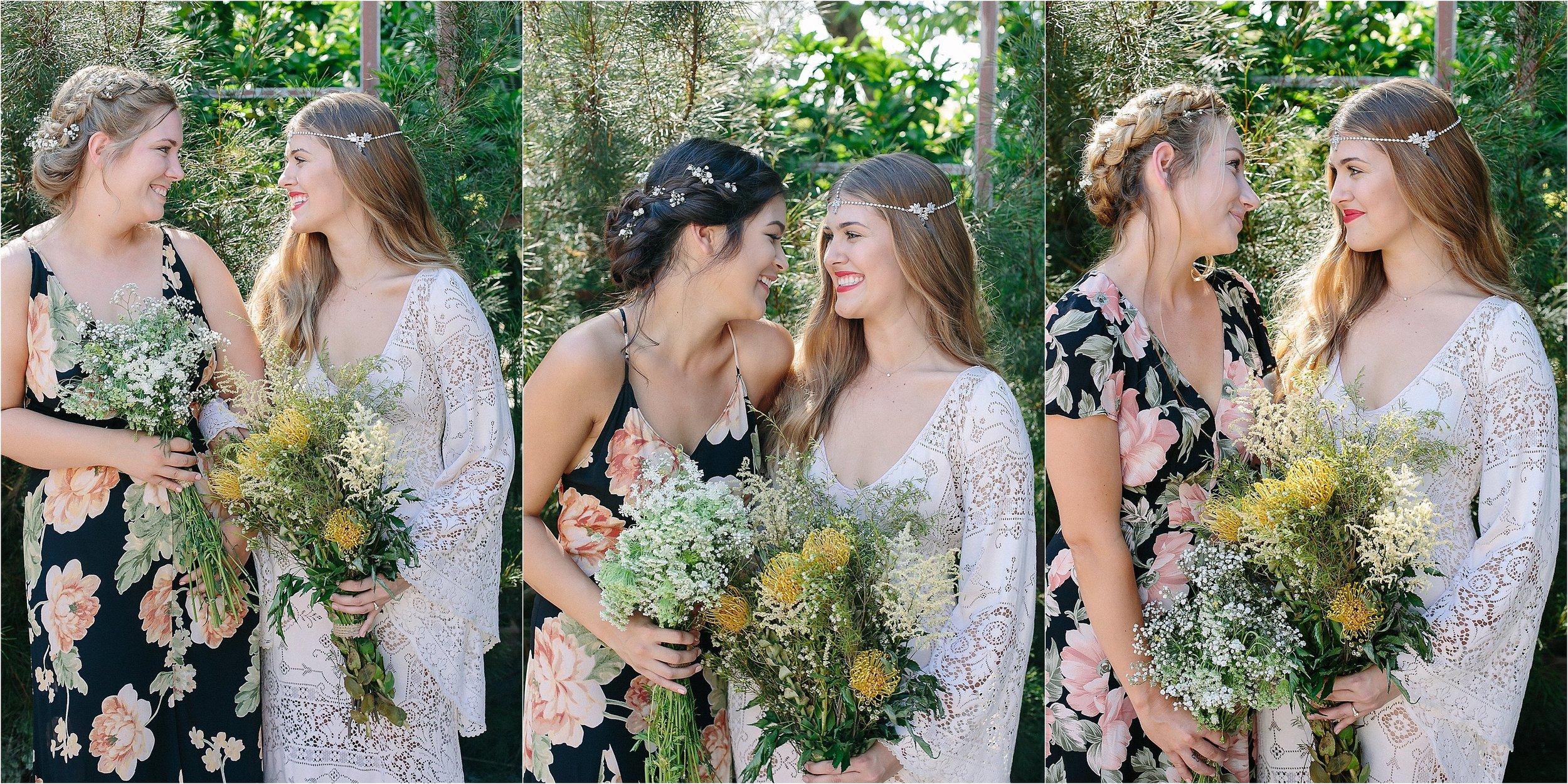A Bride & her maids