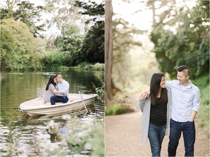 Row Boat Engagement Session in Golden Gate Park