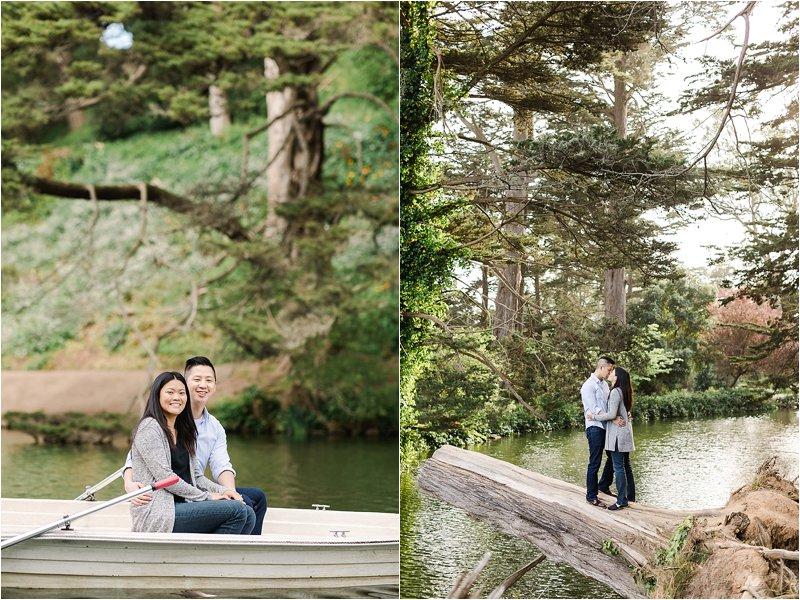 Lake Engaement Photos in Golden Gate Park