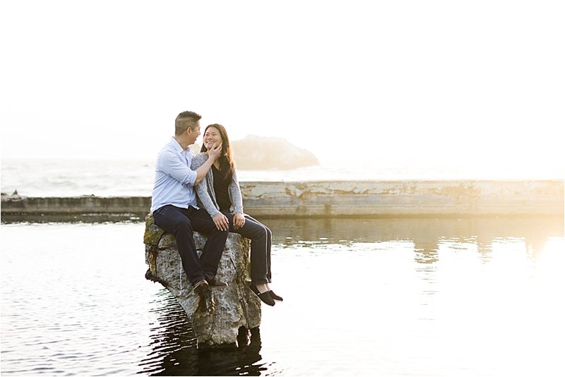 San Francisco Engagement Photos at Sutro Baths