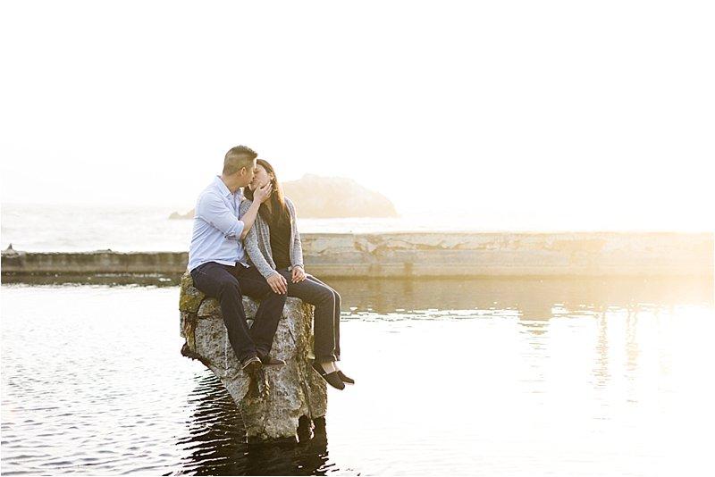 San Francisco Bay Engagement Photos at Sutro Baths