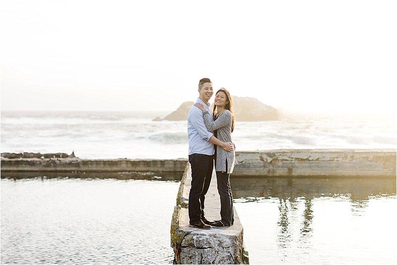 Sunset Engagement Photos at Sutro Baths
