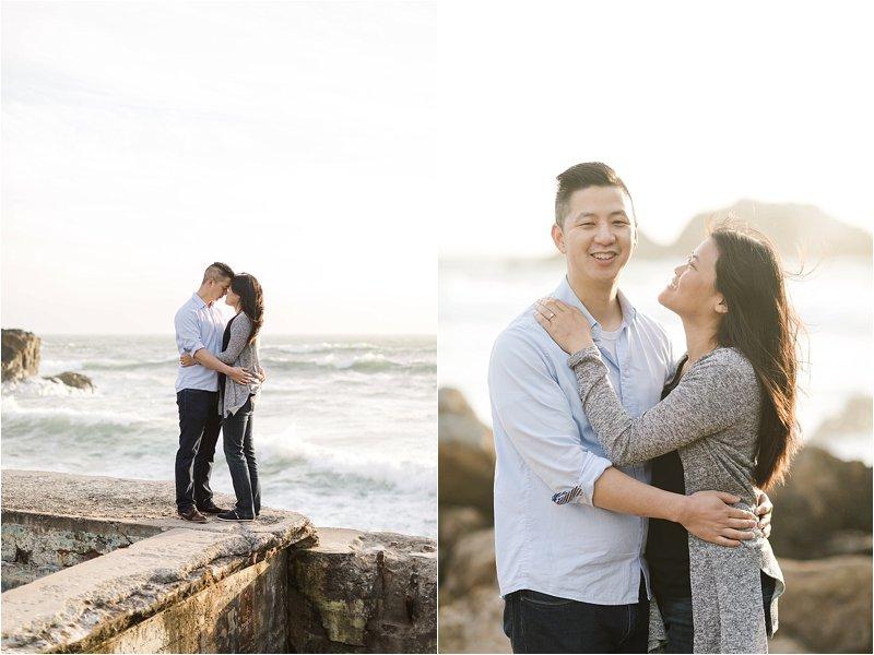 Romantic San Francisco Beach Photos at Sutro Baths